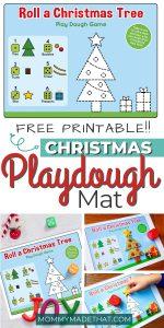 Free printable playdoh mat for christmas