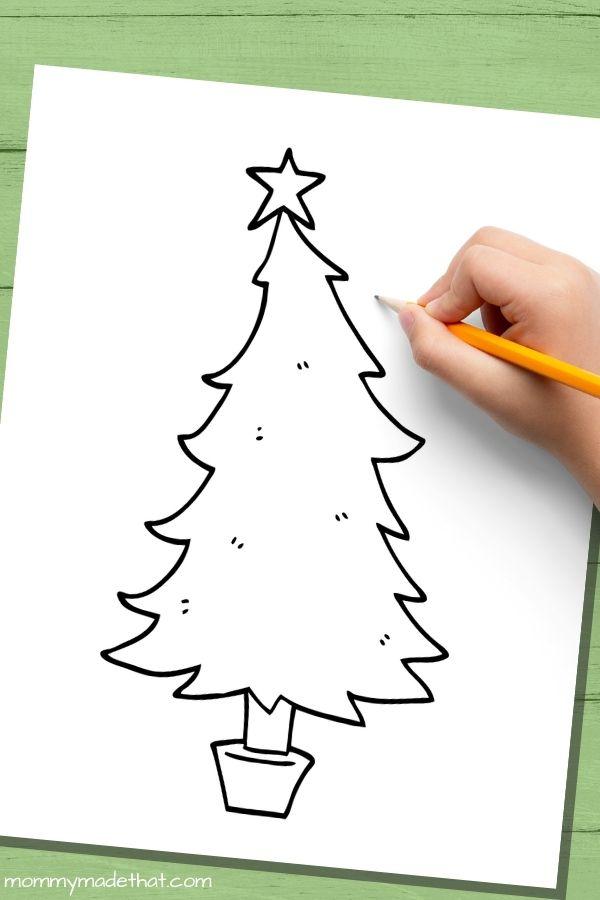 Cartoon Christmas tree templates