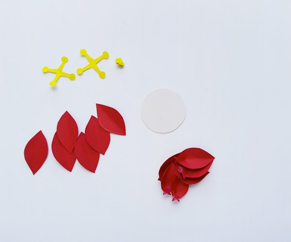 poinsettia craft template pieces