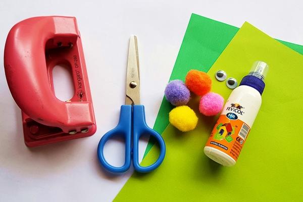 pom pom caterpillar craft supplies