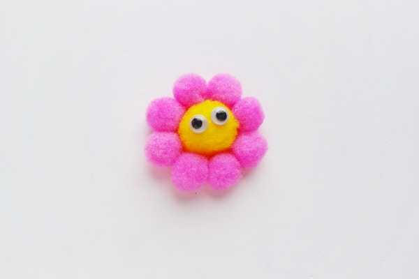 a cute pom pom flower