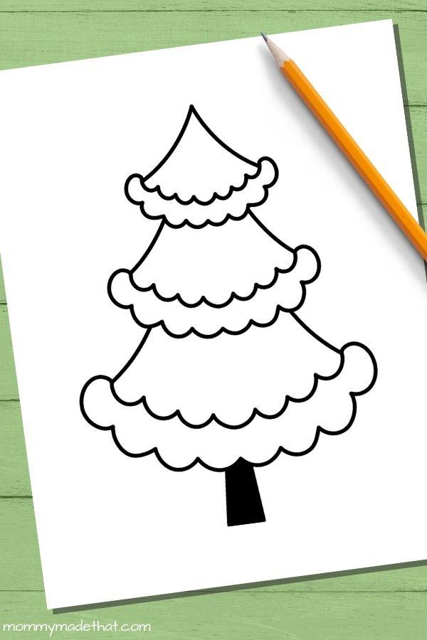 Fancy Christmas tree templates