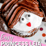 easy princess leia cupcakes