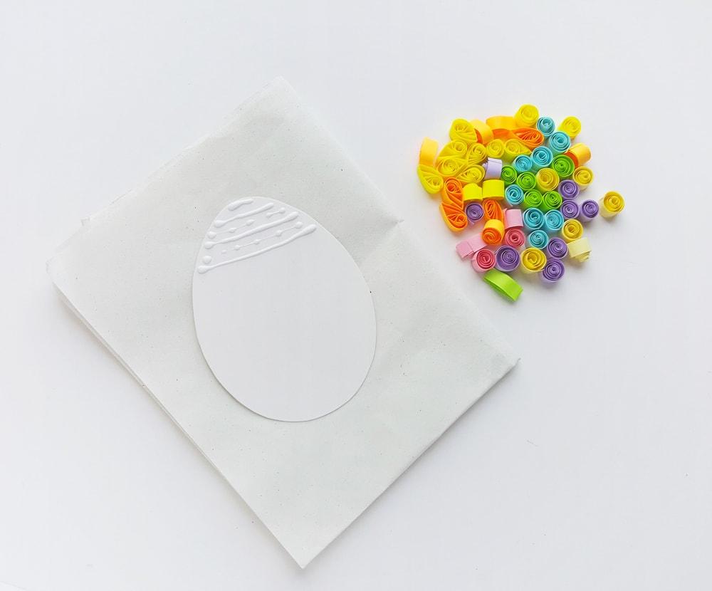 Paper easter egg craft