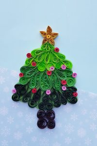 quilled pine tree