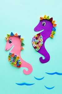 Quilled Seahorse art