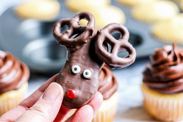 reindeer cupcake recipe tutorial