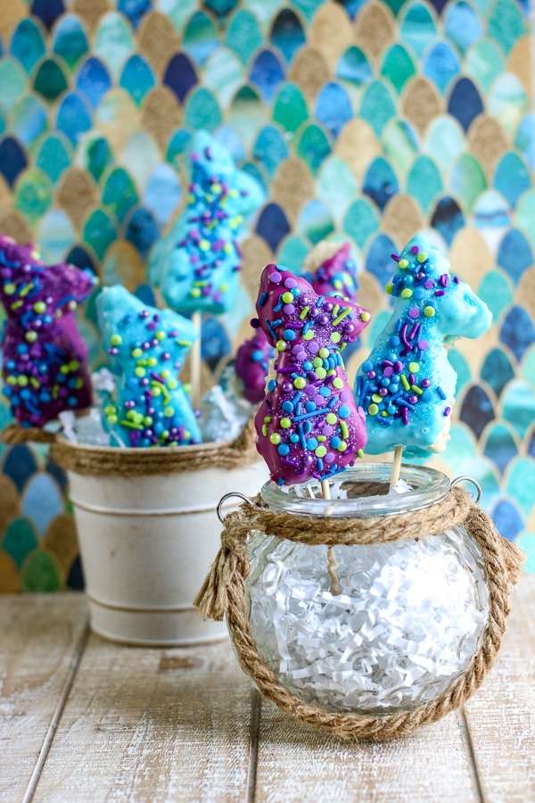 mermaid rice krispie treats