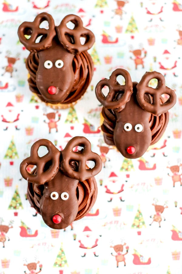 Rudolph reindeer cupcake recipe
