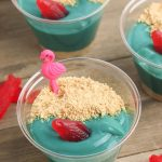 beach pudding cups