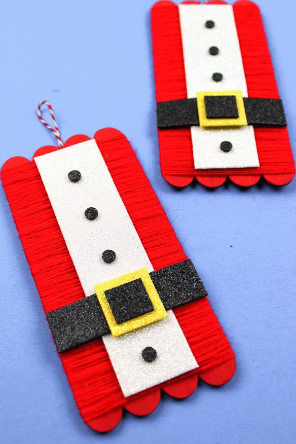 DIY Santa ornament for kids to make