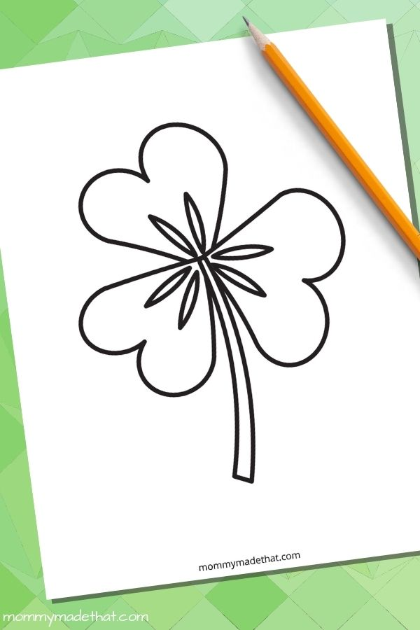 shamrock template for coloring or crafts and activities, or classroom use