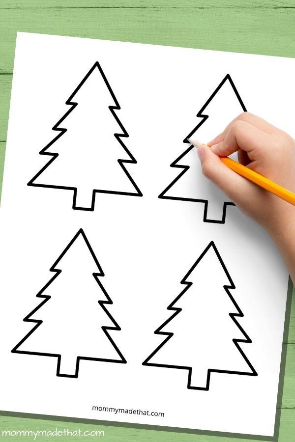 free printable christmas tree templates for crafts
