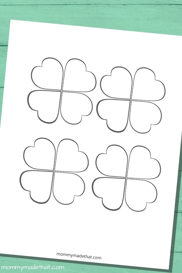 small four leaf clover template
