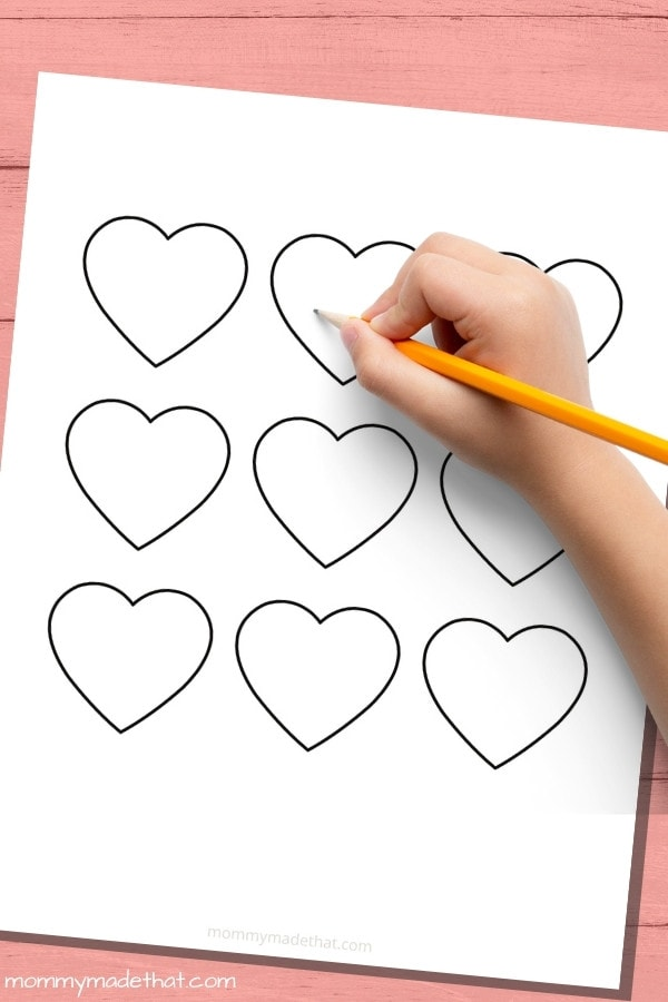 small heart template printable