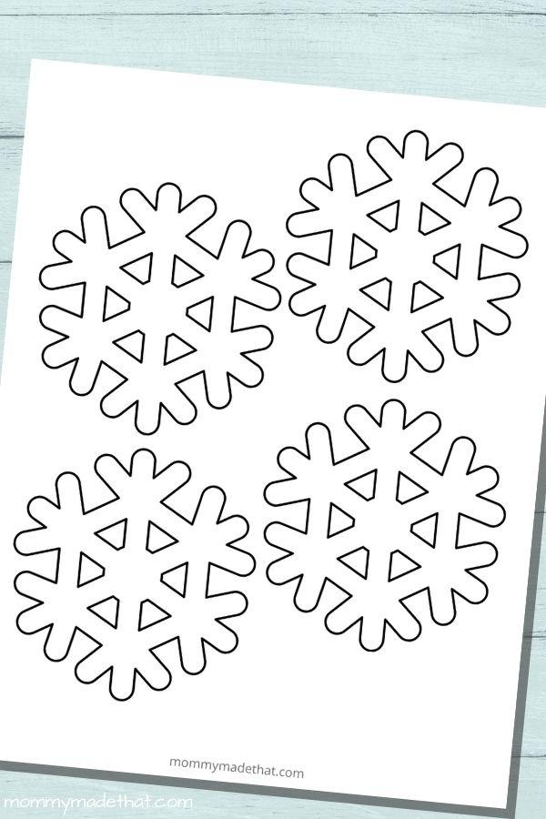 small snowflake template printable