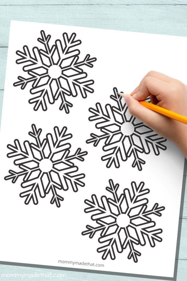 Small snowflake templates