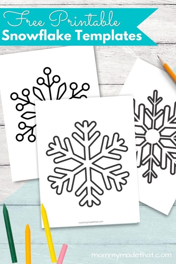 Snowflake template printables