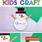 snowman christmas craft for kids