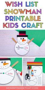 snowman christmas craft for kids