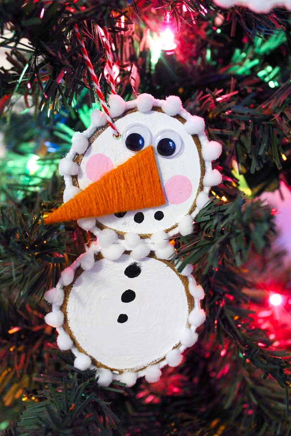 snowman craft Christmas ornament