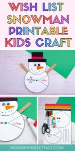 snowman craft kids