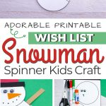 snowman spinner gift wish list craft