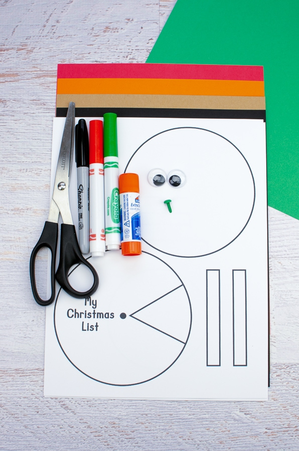 snowman christmas wish list template printable supplies