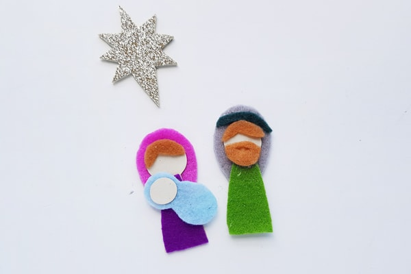 Mother Mary and baby jesus nativity craft