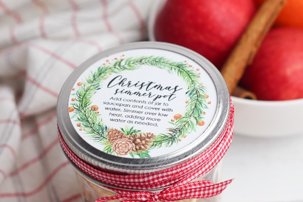 stove top potpourri gift with printable