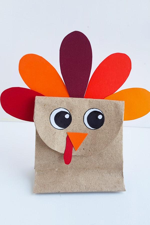 turkey craft paper bag