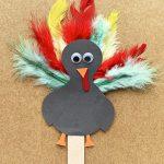 Turkey popsicle stick craft