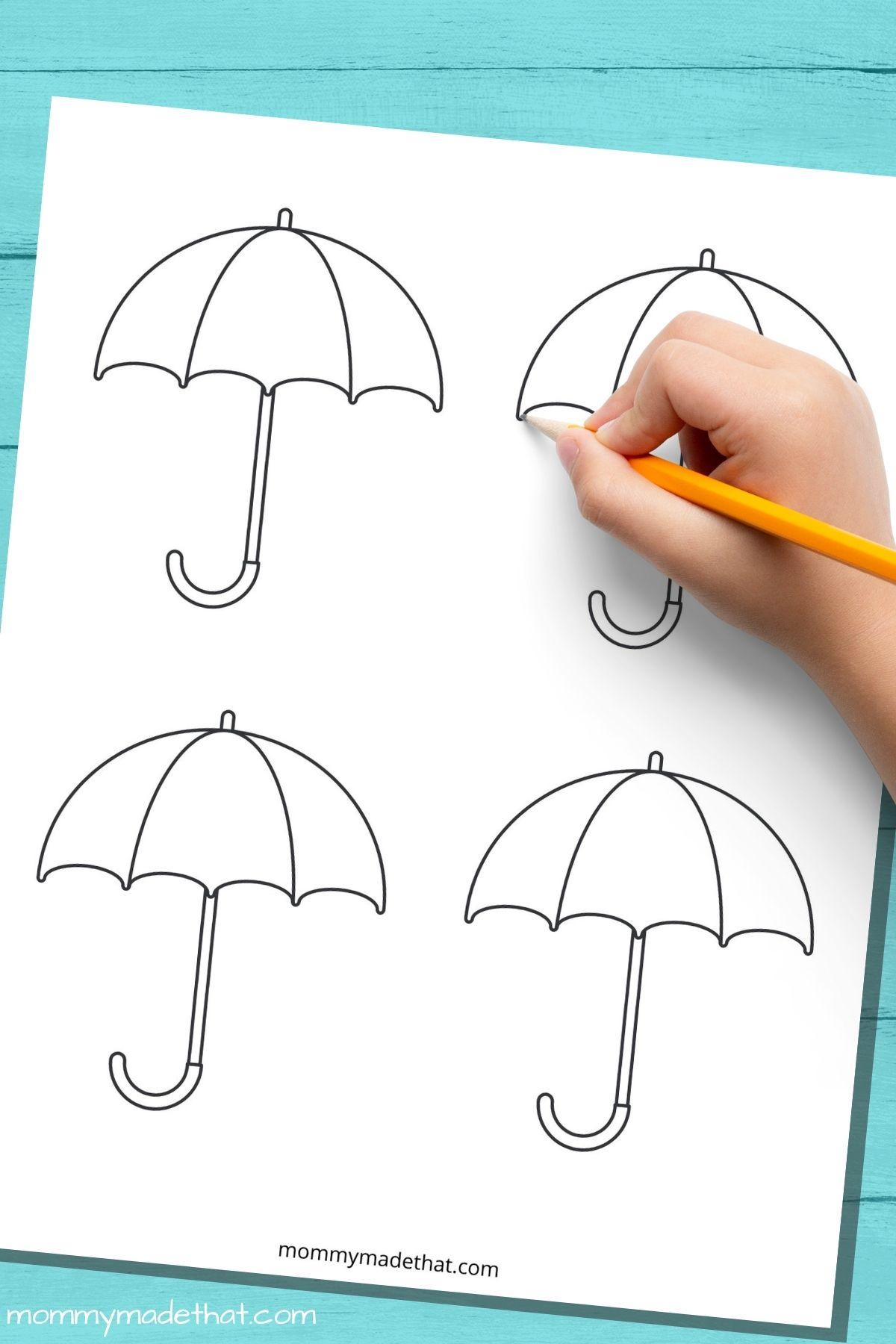 free umbrella template printables