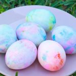 Whipped Cream dyed easter eggs