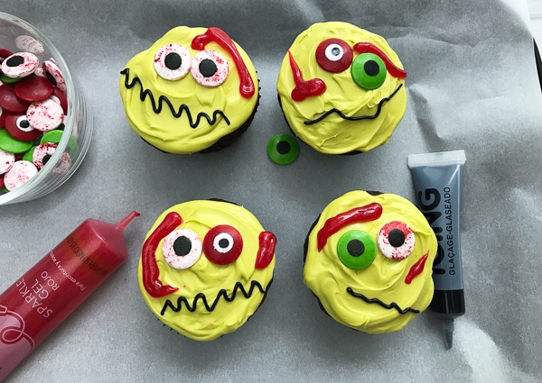 how to make zombie cupcakes