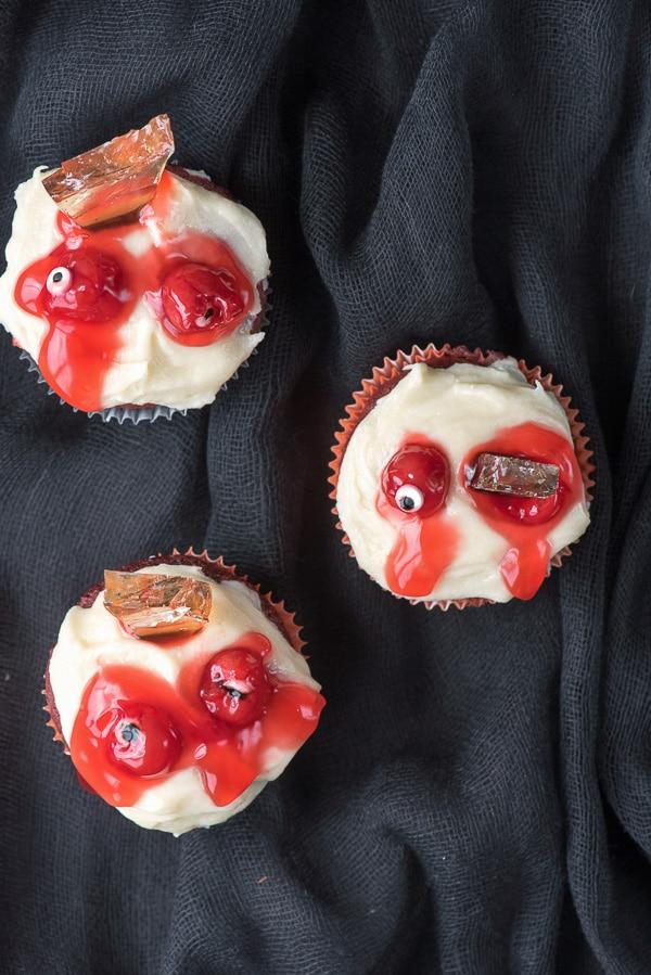 Zombie Eye Cupcakes